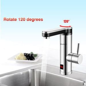 Image 3 - 220V Máy Nước Nóng Cho Nhà Bếp Phòng Tắm Ngay Tankless Làm Nóng Tập Máy Nước Nóng Vòi Nước Nóng Nhanh Có Đèn Led