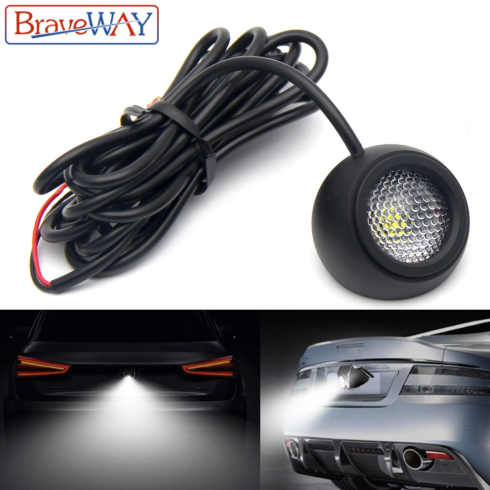 BraveWay LED Extra Reversing Light For Car SUV ATV Offroad Auxiliary Led Work Light 12V Fog Light Flood Beam LED Reverse Lights