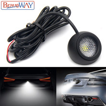 BraveWay LED Extra Reversing Light for Car SUV ATV Offroad Auxiliary Led Work Light 12V Fog Light Flood Beam LED Reverse Lights(China)