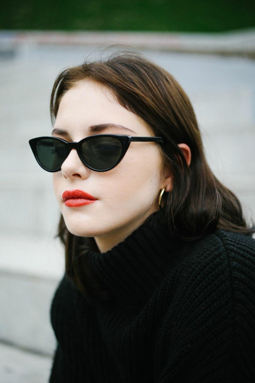 396f8e410493 WHO CUTIE 2018 Small Cateye Triangle Sunglasses Sexy Women Vintage ...