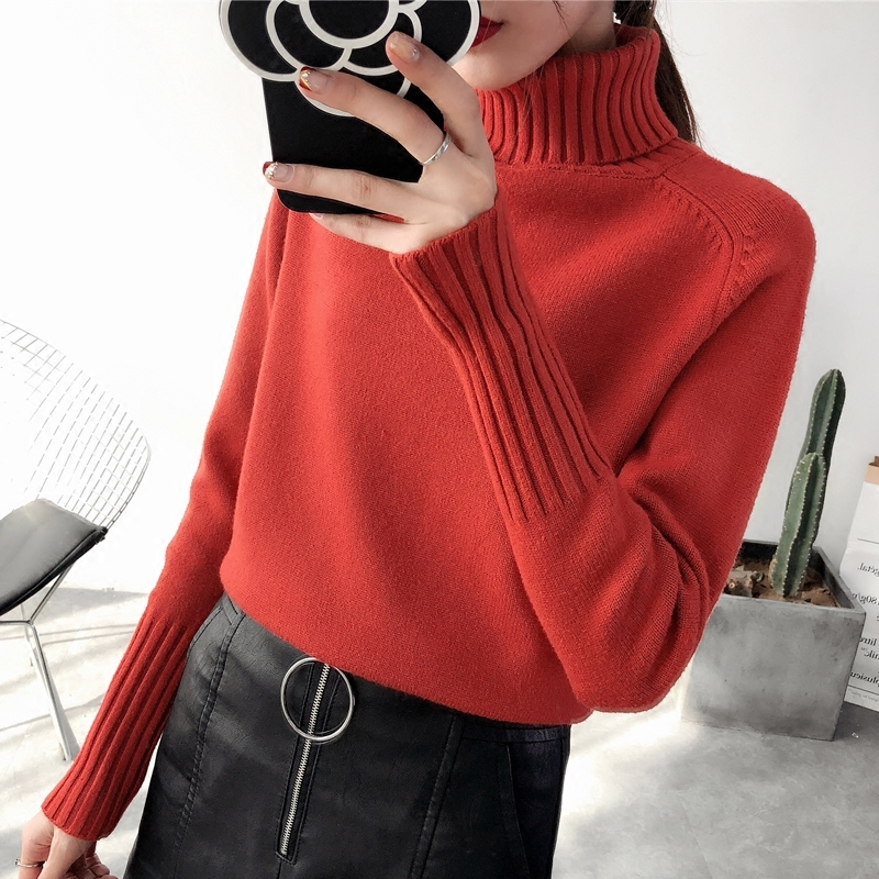 PEONFLY Women Turtleneck Winter Sweater Women Long Sleeve Knitted Women Sweaters And Pullovers Female Jumper Tops Jersey