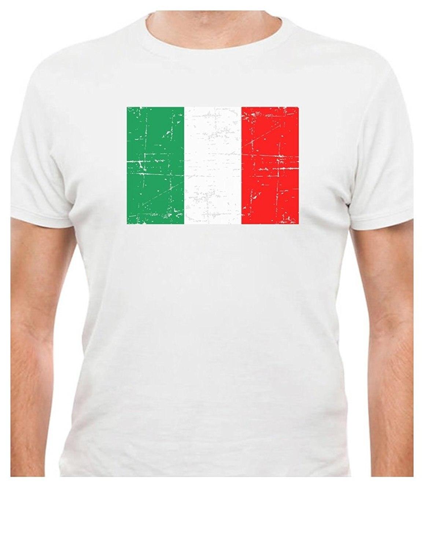 Printed Tee Shirt Design Vintage Italy Flag Retro Italian Style T