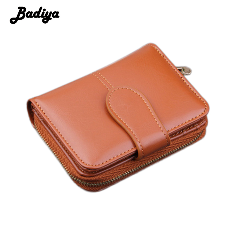Badiya Hasp And Zipper Design Solid Women Wallet PU Leather Short Wallet For Women New Design Card Holder Purse casual weaving design card holder handbag hasp wallet for women