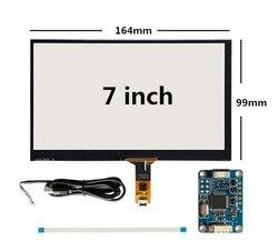 7 cali 165mm * 100mm Raspberry Pi tablet PC nawigacja pojemnościowy dotykowy digitizer dotykowy szybka panelu ekranu USB płyta sterownicza|Ekrany LCD i panele do tabletów|Komputer i biuro -