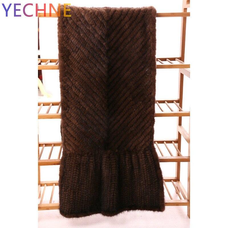 Норковый шарф шерсть норки шарф кожа и мех вокруг норковая шаль плетение женщин длинный Расширенный корейский утолщение Шифрование корейс