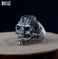 S925 Silver Men's Skull Ring Man's silver ring