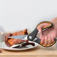 مقص المطبخ الفولاذ الصلب المنزلية متعددة الوظائف مقص الدجاج عظم السمك قطع سكين المطبخ أدوات يدوية