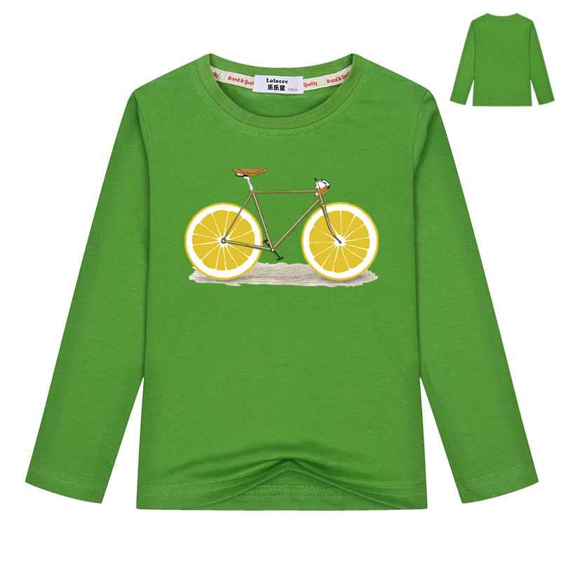Hot sale fruit bicycle t shirt kids long sleeve fashion for Atm t shirt sale