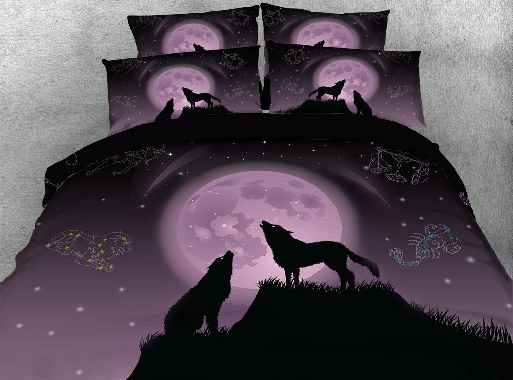 Wohnmöbel Verantwortlich 3d Wolf Kühlen Bettwäsche Königin Tröster Setzt Bettdecke Hausgemachte Bettdecke Bettbezug-set Königin King Size Bettwäsche Doppelbett Blätter Schlafzimmer Möbel