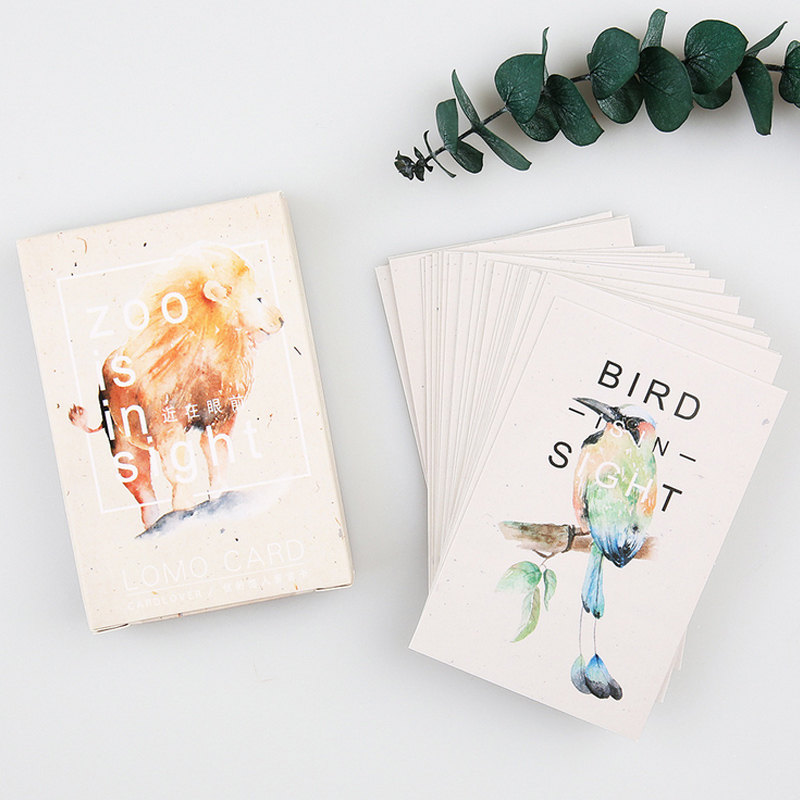 28 pcs/set card lover Zoo is in Sight mini card greeting card lomo memo card kids gift postcard kawaii stationery 30pcs in one postcard take a walk on the go dubai arab emirates christmas postcards greeting birthday message cards 10 2x14 2cm