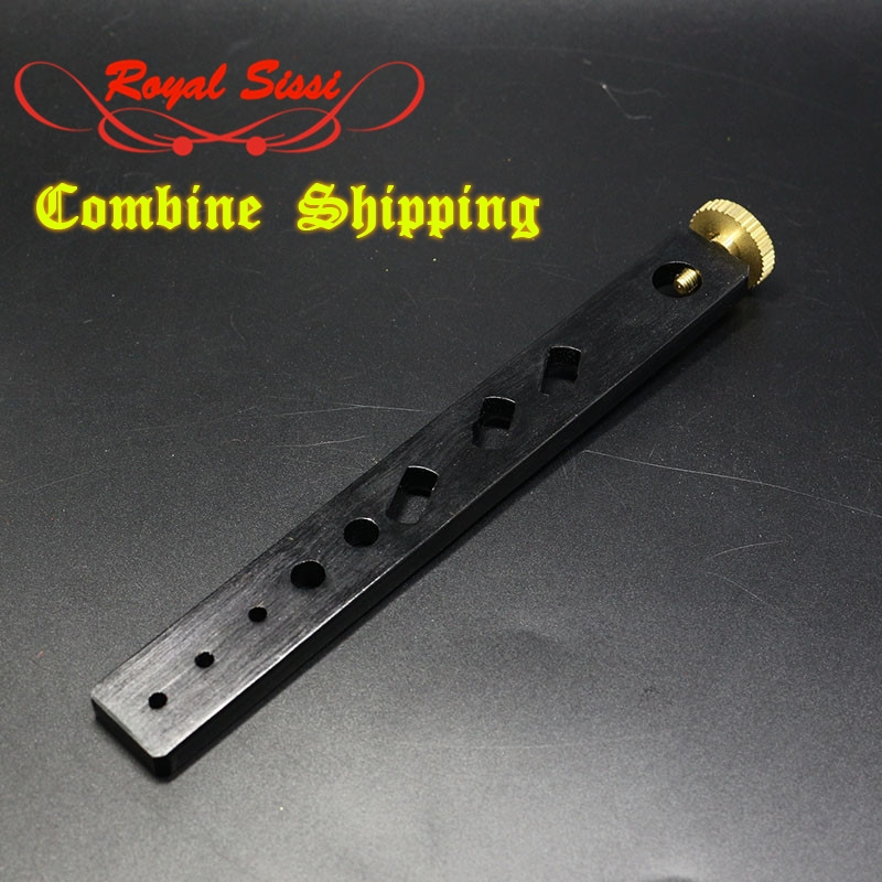 Aluminum straight bar anodized tool holder with holes/ Tools holder to fit into shaft of vises/ Fly fishing tying vise accessory maximumcatch fishing tool compact traveling fly tying system vise fly tying vise