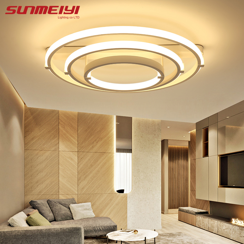 купить Modern Led Ceiling Lights For Living Room Bedroom Luminaria Ceiling Lamp Home Lighting Lamparas De Techo Remote Control Dimming по цене 5892.66 рублей
