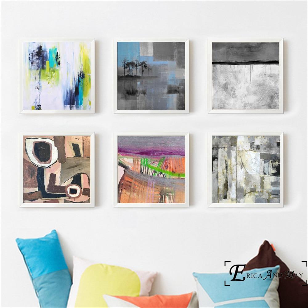 546 55 De Réductionart Abstrait Scandinave Peinture Affiche Imprimer Des Images Murales Décoratives Pour Le Salon Pas De Cadre Accessoires De