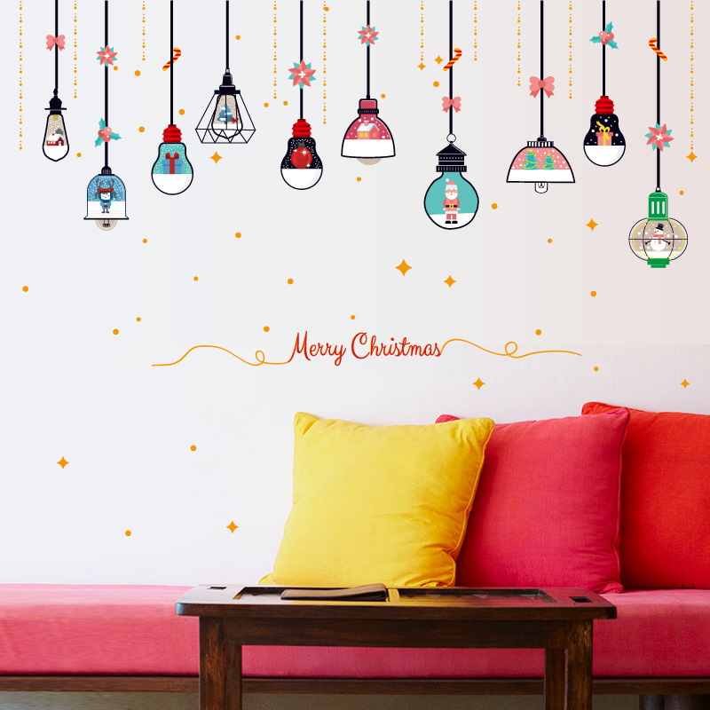 Christmas Chandeliers New Years Bedside Cabinets Wall Stickers Glass Windows Stickers Doors PVC