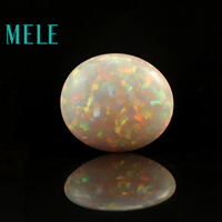 Natural white opal for jewelry making,Oval cut 25X22X10mm 25ct colorful fire DIY loose gemstone
