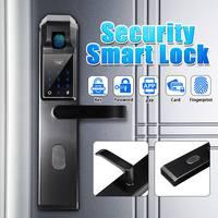 Пароль отпечатка пальца комбинация Умный Замок цифровой электронный дверной замок Безопасность Интеллектуальная блокировка для домашней