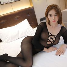 Hot Sexy Bodystocking Women Sexy Lingerie Crotchless Body Stocking Bodysuit Sexy Underwear Beige Porn Erotic Sex Clothes Teddies ku s sexy toy coveralls bodystocking sex products cross sexy body suit erotic dress