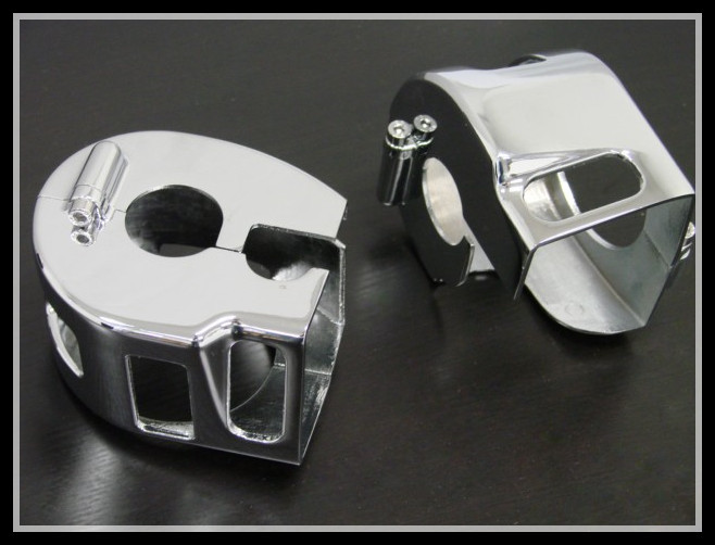 CHROME SWITCH HOUSING COVERS for Kawasaki Vulcan VN 1500 1600 Classic Nomad