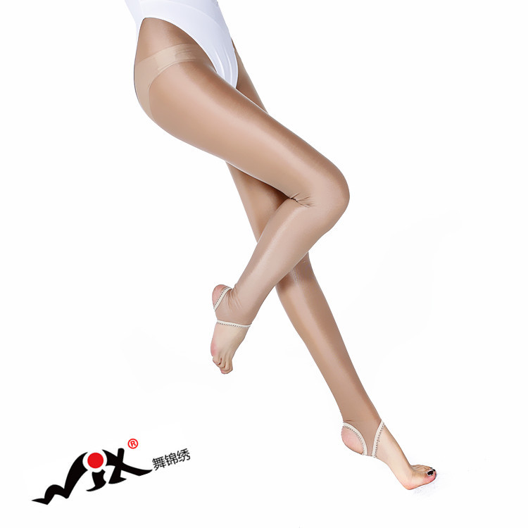 Sexy Women Oil Shiny Pantyhose Tights Thick Shining Shaping Socks Stockings Dance Fitness Leggings sexy lingerie Open Toe FX1040