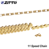 ZTTO Bicycle Chain 11 Speed MTB Mountain Road Bike Electroplate Gold 11 Velo Chains Link For