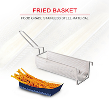 Fried Basket Commercial Stainless Steel Long 30cm Potato Chip Frying Container For French fries Squeezers