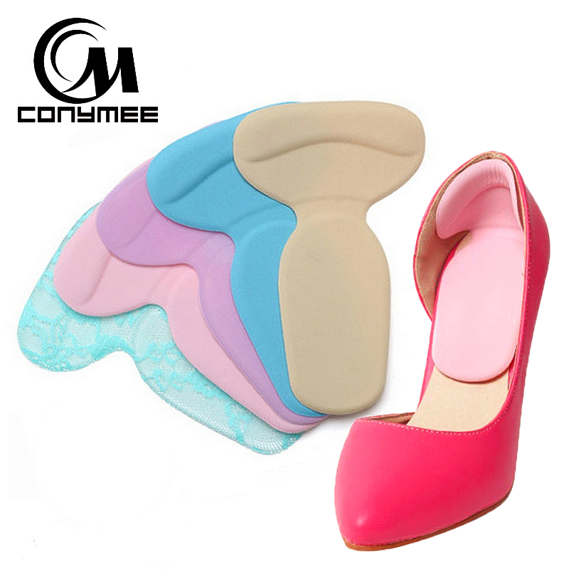 24pcs mini round insoles shoes care silicone cloth cushion pad heel stickers anti pain relief foot care inserts CONYMEE Orthopedic Insole T-Shape Sponge Shoes Insoles Pads High Heel Inserts Foot Care Pain Relief Women Sport Shoe Pad Sole