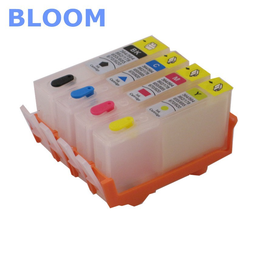 BLOOM compatible 178 refillable ink cartridge For HP Photosmart 7515 B109a B109n B110a Plus B209a B210a Deskjet 3070A 3520 new for b110a b109a b210a b310a printer parts brand new original 4 colours print head