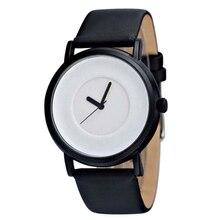 Cheap Price Fashion Men Watches Simple Unisex Leather Strap Quartz Wristwatch No Logo Watch reloj hombre 2019