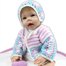 Real Looking Handmade 22 Inch 55 cm Realistic Silicone Reborn Babies Cheap Reborn Baby Dolls For Newborn Baby Girl For Sale