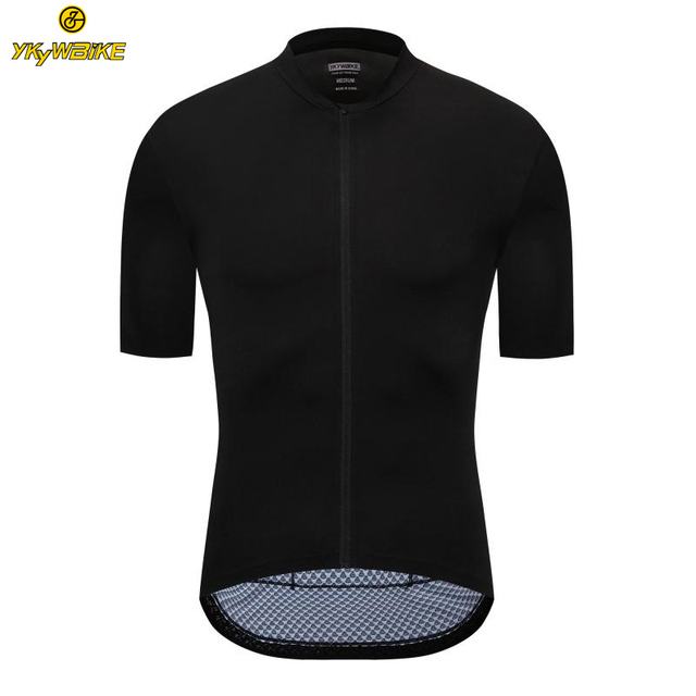59443fde3 Special Offers YKYWBIKE All Black High Quality Seamless Craft Short Sleeve  cycling jersey Professional Lightweight Summer