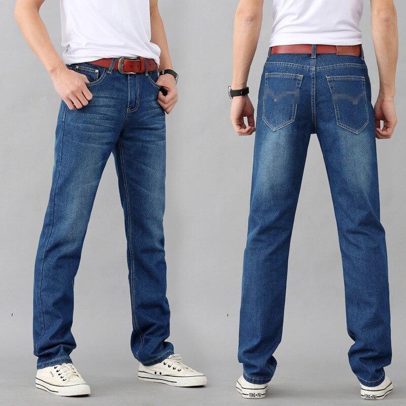 NEW Jeans Exclusive Design Famous Casual Denim Jeans Men Straight Slim Middle Waist Men Jeans Vaqueros Hombre