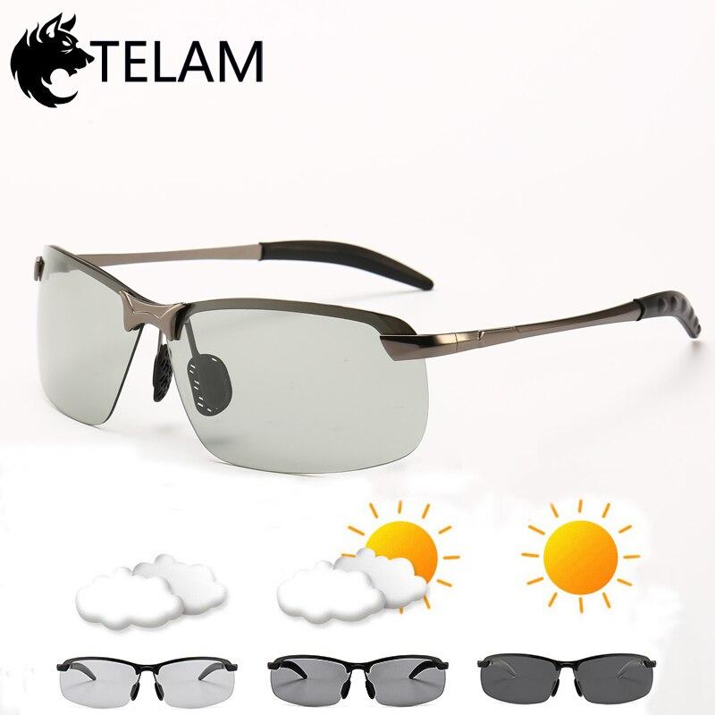 Diplomatisch Photochrome Sonnenbrille Männer Polarisierte Chameleon Verfärbung Sonnenbrille Für Männer Fahren Sonnenbrille Randlose Platz Sonnenbrille Sonnenbrillen