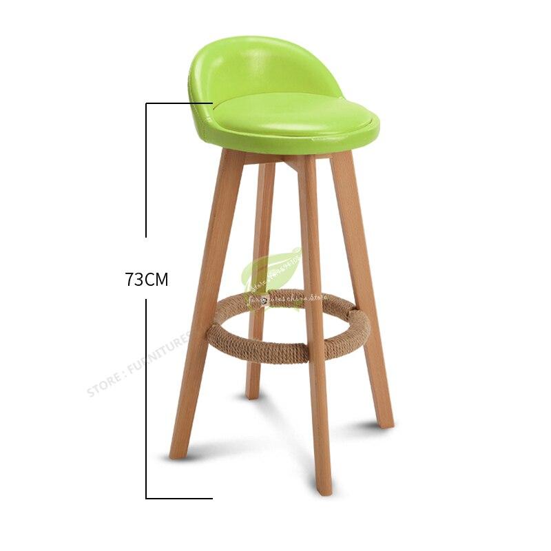 Modern Simplicity Stool Bar Tabouret De Bar Wooden Stool Seat Bar Furniture Beauty Salon Furniture Solid Wood