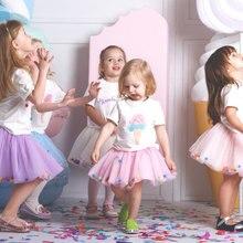 Юбка для девочек на лето и весну-осень сетчатые детские юбки-пачки юбка-американка детская праздничная одежда милая бальная юбка для танцев для девочек
