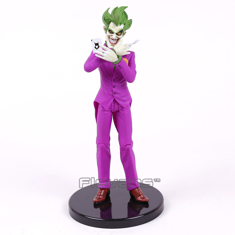 Batman The Joker Playing Poker Ver. PVC Action Figure Collectible Model Toy 19cm shfiguarts batman the joker injustice ver pvc action figure collectible model toy 15cm boxed