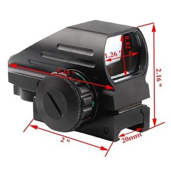 Голографический компактный рефлекторный красный зеленый точка зрения прицел 4 Сетка прицел с AK серия рельс Боковое крепление для охоты стр...