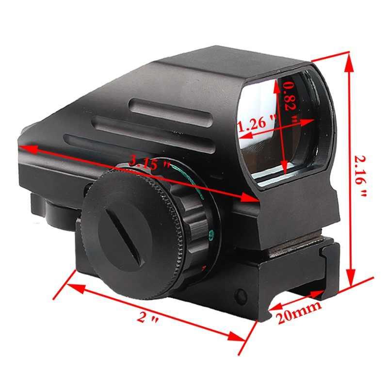 Mira telescópica holográfica, compacta, réflex, punto rojo y verde, mira de 4 retículas con montaje lateral de carril de la Serie AK para caza, RL5-0032 Airsoft