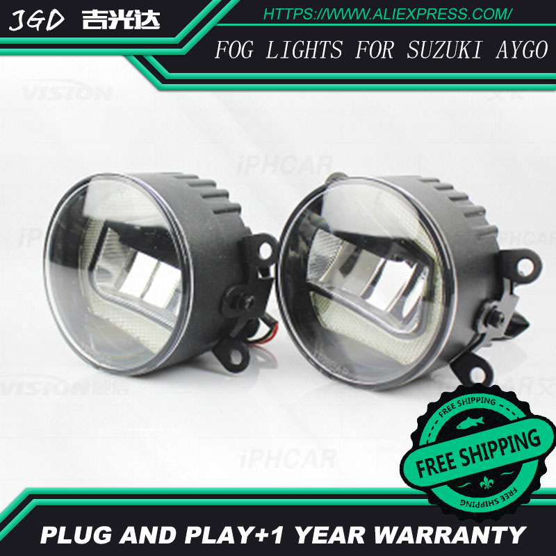 For Suzuki Aygo LR2 Car styling front bumper LED fog Lights high brightness fog lamps 1set led front fog lights for jaguar s type ccx saloon 1999 2007 2008 car styling bumper high brightness drl driving fog lamps 1set