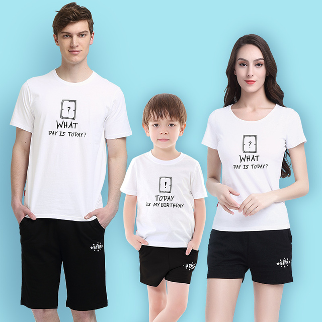 Mother Son Outfits Birthday Clothes For Family Paty Father Matching Daughter Daddys Girl T Shirt