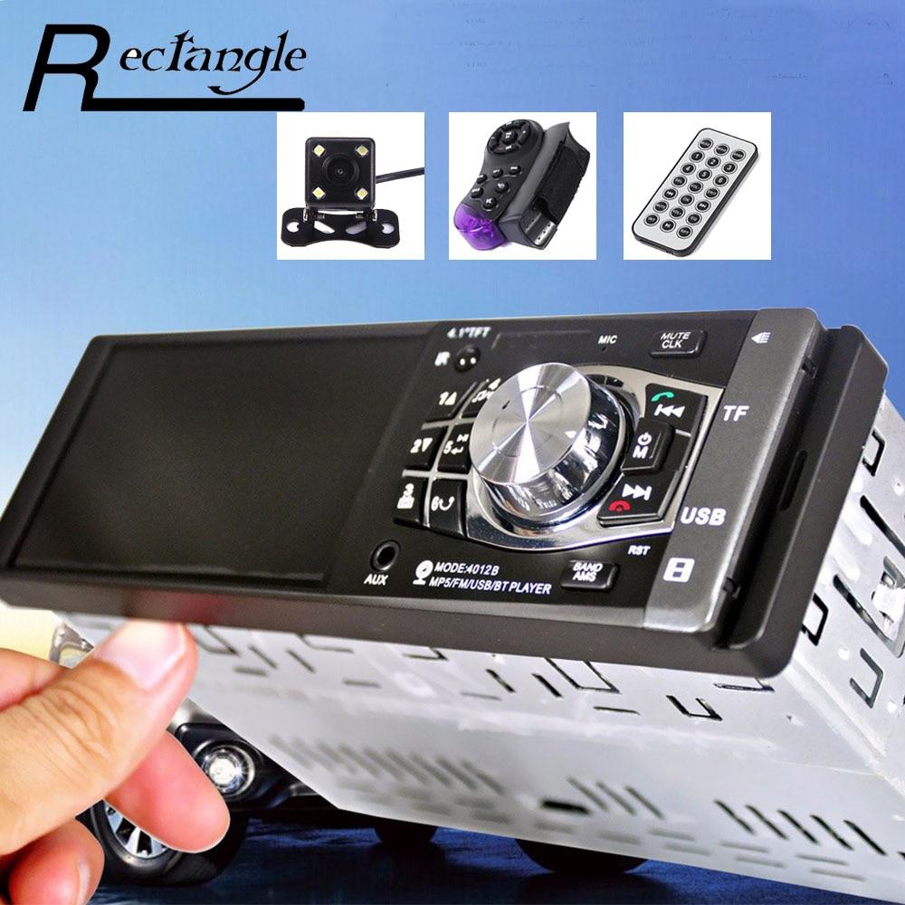 imágenes para 4012B 4.1 Pulgadas MP5 Jugador 1 Din Radio de Coche de Audio Multimedia Navegación de vídeo Soporte de Control Remoto USB SD con Cámara de Visión Trasera