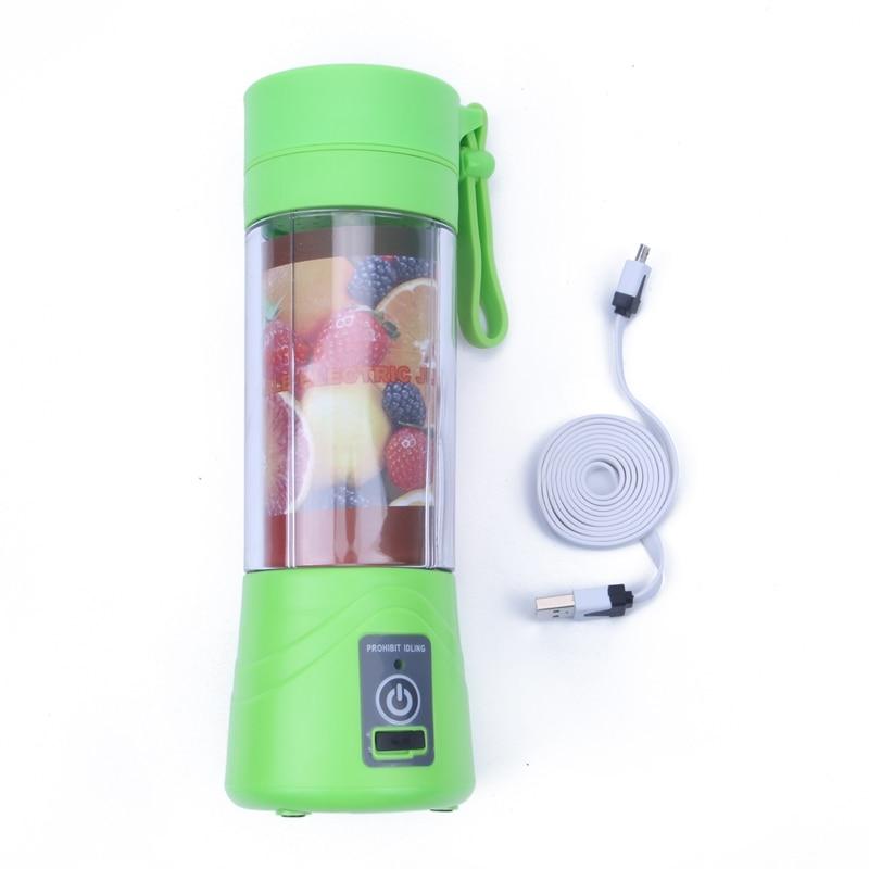 380 ml Recarregável USB Misturador Liquidificador Smoothie Maker para Uso Doméstico Portátil Mini Juicer Máquina de Suco Extrator De Suco De Pequenas New Gota 4