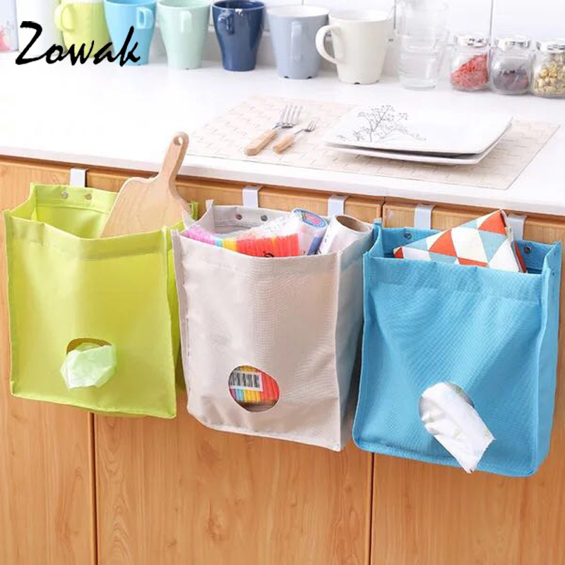 1pc Hanging Cabinet Rubbish Trash Bag Storage Bags