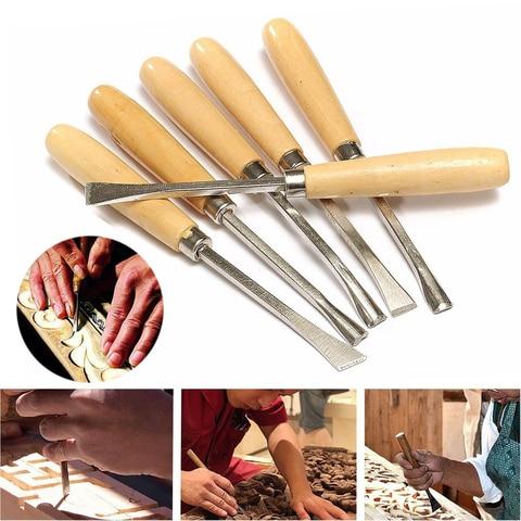 Ferramenta de Escultura em Madeira Carpintaria Cinzel Hobby Faça Você Mesmo Gouges Modelo Que Faz 6 Pçs Mão