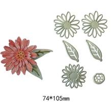 6Pcs/ Set Flower Leaf Leaves Metal steel Cutting Dies Stencils DIY Scrapbooking Die card photo album Cut Machine
