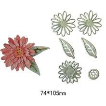 6Pcs/ Set Flower Leaf Leaves Metal steel Cutting Dies Stencils DIY Scrapbooking Die card photo album Cut Cutting Machine все цены