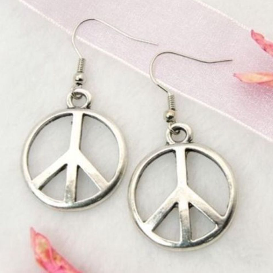 24pair tibetan silver earrings peace symbol cnd hippy 33x14mm 24pair tibetan silver earrings peace symbol cnd hippy 33x14mm a0296 in drop earrings from jewelry accessories on aliexpress alibaba group buycottarizona Gallery