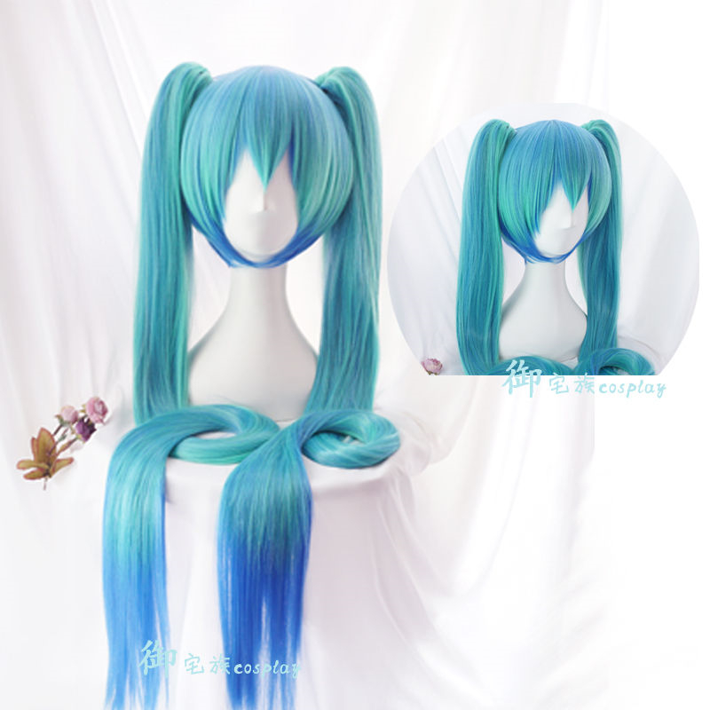 2018 Vocaloid Hatsune Miku Wig Cosplay Wig Role Play Adult Synthetic Hair Long Straight Ponytails citrus shitorasu aihara mei cosplay wig long black straight adult facial hair bangs