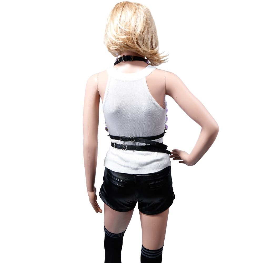 2016 New Women Sexy Belt Fashion Around Waist Harness Around Neck Bondage Punk Rock Buckies Street Adjustable Free Shipping In Belts Cummerbunds From