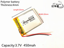 1pcs 3.7V 450mAh 403035 Lithium Polymer Li-Po li ion Rechargeable Battery cells For Mp3 MP4 MP5 GPS PSP mobile bluetooth