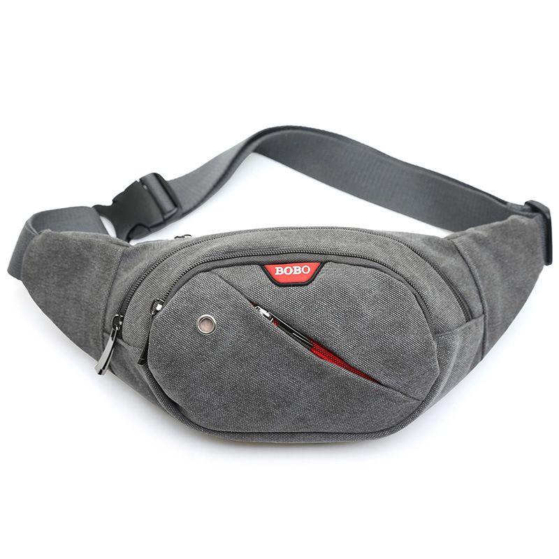 Waist Pack For Men Women Fanny Pack Money Handbag Belt Travelling Mountaineering Shoulder Mobile Phone Bag Gray